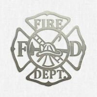 "12/"" Wood Maltese Cross Firefighter Fireman Monogram Cutout Shape Unfinished"