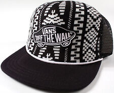 Vans CLASSIC PATCH Black Sweater TRUCKER Hat-NEW-skate/surf Retro KNIT cap-RARE-
