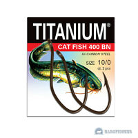 ROBINSON TITANIUM CAT FISH WALLERHAKEN, 2/0-10/0 BLACK NICKEL WELSHAKEN, HOOKS