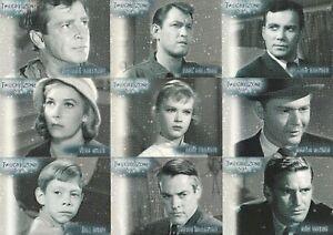TWILIGHT ZONE PREMIERE SERIES 1 1999 RITTENHOUSE STARS INSERT CARD SET S-1 - S-9