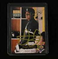 1993 Upper Deck Future Heroes Frank Thomas Chicago White Sox #62 Hand Signed
