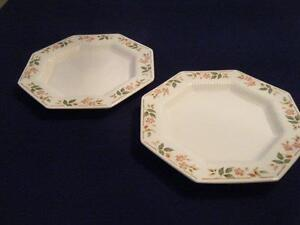 "NIKKO, ""CLASSIC COLLECTION, TWO 8 7/8"" SALAD PLATES, FLORAL"