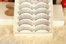 10 pairs handmade nature long false faux eyelashes reusable makeup extension
