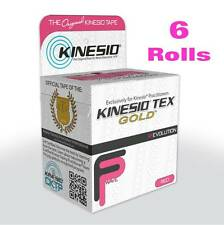 KINESIO FP Tape  6 Rolls (5m each) PINK Kinesiology for Injuries & Support