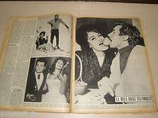 DALIDA e JEAN SOBIESKI clipping ritaglio articolo foto photo GENTE 1963/3=