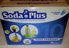 10 CO2 8g SODA PLUS charger 8 gram C02 cartridge carbonated seltzer water stream