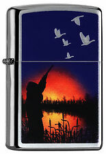 Zippo Briquet Duck Hunting Brushed Chrome chasseur canards NEUF emballage d'origine pièce de collection!!!