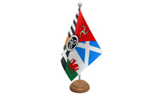 Celtic Nations Table Flag with Wooden Stand