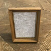 """Vintage Gold Tone Wooden 4x5"""" Frame Easel Back from the 1960s"""