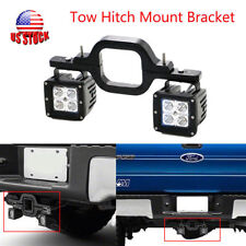 Tow Trailer Hitch Mount Bracket F Dual LED Light Pod Reverse Bar Off Road Backup