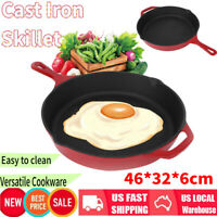 Enameled Cast Iron Skillet For Eggs Steak Camping Lodge Frying Pan 18 Inch Home