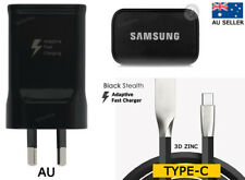 Samsung Fast Wall Charger Galaxy S9 S8 Plus A7 A5 A3 TYPE C Cable AU Genuine
