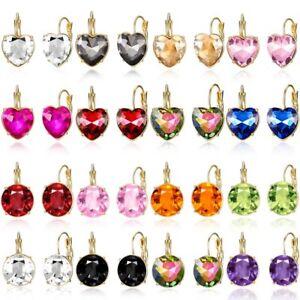 Women Crystal Rhinestone Earrings Ear Clip Stud Hook Drop Chic Bling Jewlery New
