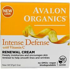 Avalon Organics Intense Defense with Vitamin C, Renewal Cream, 57 g