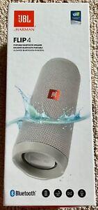 JBL FLIP 4 Portable Waterproof Bluetooth Speaker - Grey - Brand New in box