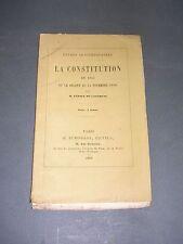 Politique La constitution de 1852 et le décret du 24 Novembre 1860 Paris 1860