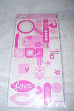 DOODLEBUG DESIGN SELF ADHESIVE CHIPBOARD - LOOPY LOVE
