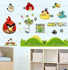 Angry Birds Nursery Kids Wall Stickers Reusable & Transparent Vinyl Decals
