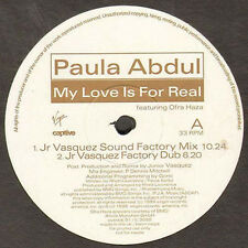 PAULA ABDUL - My Love Is For Real  Junior Vasquez, Mark Picchiotti, E-Smoove rmx