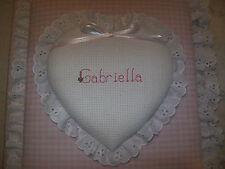 Child / Baby Heart Custom Personalized Fabric Album / Scrapbook - Handmade