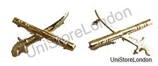 Crossed Sword & Batons Metal General's Officer Insignia Gold R838