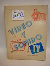 LIBRO - BOOK VIDEO Y SONIDO TV.  COD$*202