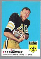 5 ~~ DAN ABRAMOWICZ FOOTBALL CARDS~~INCLUDES HIS ROOKIE!!