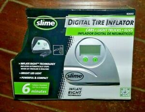 Slime Digital Tire Inflator with LED Light -Compact- Item #40051
