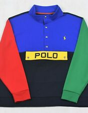 Polo Ralph Lauren Colorblock Snap Top Double Knit Pullover 3XB 3XLT Big Tall NWT