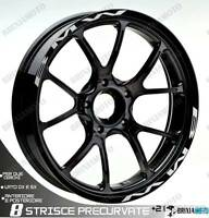 PROFILI BMW RUOTA ADESIVI ADESIVO STICKER BMW WHEEL ARGENTO R NINE T