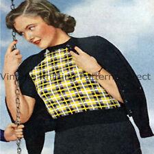 Knitting Pattern To Make Ladies Womens Girls Vintage Jumper 3ply