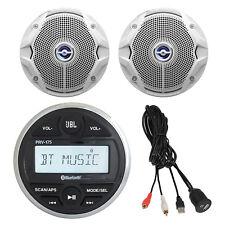"JBL AM/FM/USB/Bluetooth Gauge Style Stereo, 4X 6"" Marine Speakers, USB/AUX Mount"