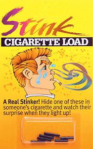 STINK CIGARETTE LOADS GAG GIFT TRICK PRANK 6 PACK JOKES