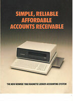 VINTAGE 1983 MONROE 7860 DESKTOP ACCOUNTING CALCULATOR BROCHURE! 23 LB! 32 CHAR