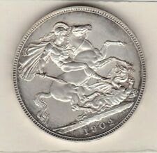 More details for 1902 matt proof edward vii silver crown in near mint condition.