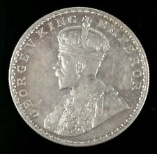 1917 George V India One Rupee Silver Coin Circulated