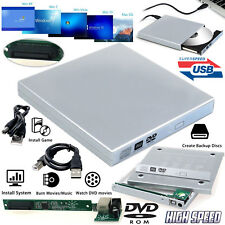 PC Portable USB 2.0 To IDE Externe CD DVD RW Rom Drive Enclosure Caddy Case Cover