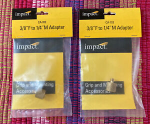 """Lot of 2 - Impact Adapter 3/8"""" Female to 1/4"""" Male - Threaded - Free Shipping"""