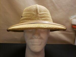 Safari hat helmet beige straw new adjustable to 25 inch lightweight