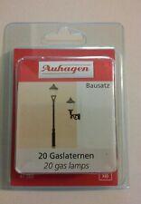 Ho scale Auhagen 20 Gas Lamps Kit # 42202