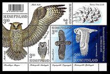 FINLAND. Owls. Sheet of 5. 1998, Scott 1087. MNH (BI#13)