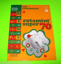 ROTAMINT SUPER 70 By NSM ORIGINAL OLD GERMAN TEXT SLOT GAMBLING MACHINE FLYER