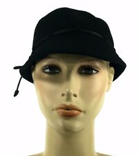 Laulhere French Wool Bob Style Hat Anouk Black 6 3/4 Made In France