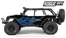 Axial SCX10 Rubicon or CRC Edition Body Graphic Wrap Skin- Hotrod Flames Blue