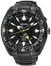 SEIKO SUN047P1 Prospex Kinetic GMT LAND Black Ion-plated SS 2 Year Guar RRP £379