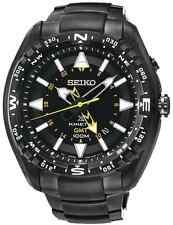 Seiko sun047p1 Prospex Cinetico GMT Land Nero Ion-Plated SS 2 ANNO DI GUAR RRP £ 379