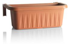 Vaso Fioriera Rondine da Balcone Plastica Regolabile 50 CM Terracotta