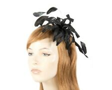 Modern black fascinator for Melbourne Cup racing by Max Alexander RRP: $129.95