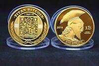 Bitcoin Coin Münze Miner Medaille Sammelmünze Sammlermünze Gedenkmünze Titan RAR