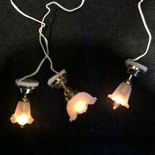 Dolls House 12v Lighting 3 X Ceiling Lights Unfitted & Working A465